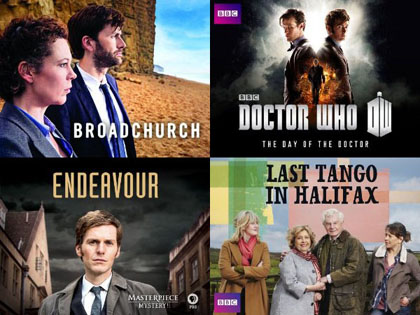 British TV shows collage