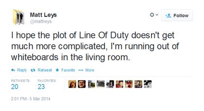 Line of Duty S2 tweet