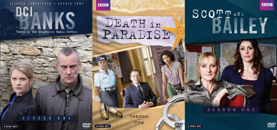DCI Banks, Death in Paradise, Scott & Bailey Season One DVDs