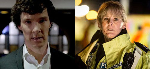 Benedict Cumberbatch Sarah Lancashire TV Choice Awards