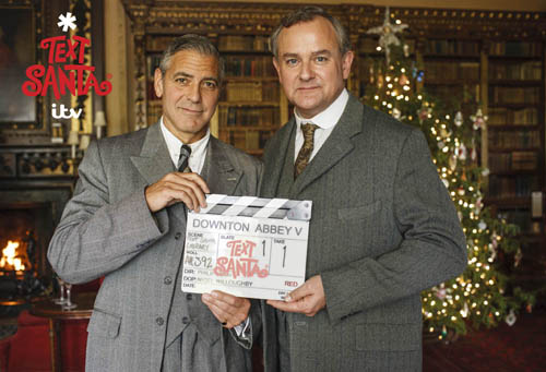 Watch: George Clooney in Teaser for Downton Abbey Text Santa Special