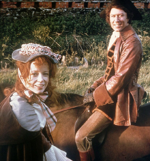 Angharad Rees as Demelza, Robin Ellis as Poldark