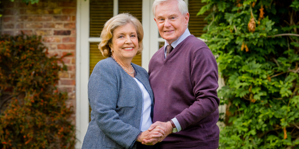 Last Tango in Halifax S3 Celia (Anne Reid) and Alan (Derek Jacobi)