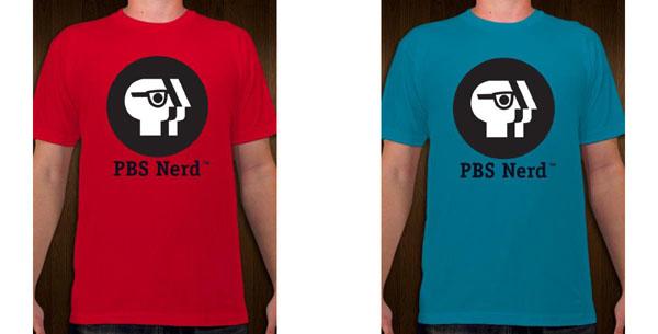 PBS Nerd tee shirts
