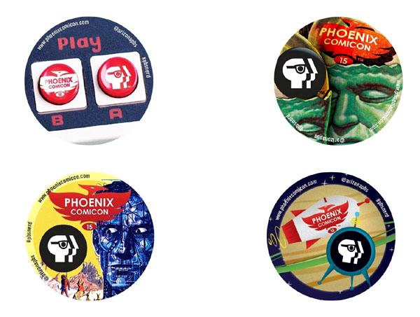 Phoenix Comicon PBS Nerd Buttons 2015