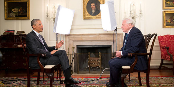 President Obama Meets Sir David Attenborough