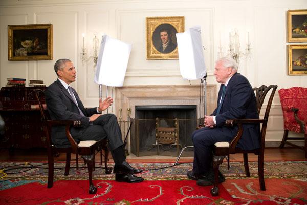 President Obama Meets Sir David Attenborough
