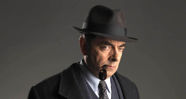 Rowan Atkinson as Maigret in 'Maigret Sets a Trap'