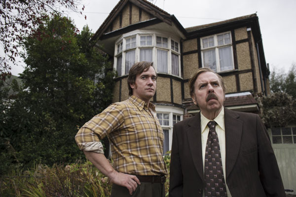 The Enfield Haunting: (L-R) Matthew Macfadyen as Guy Lyon Playfair and Timothy Spall as Maurice Grosse