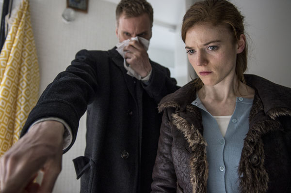 Luther: Season 4 special: Darren Boyd as DCI Theo Bloom and Rose Leslie as DS Emma Jones