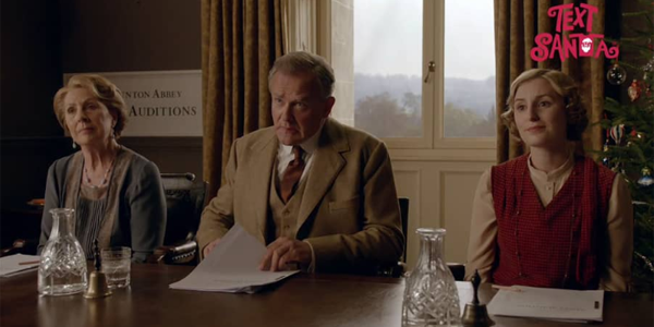 Downton Abbey Text Santa 2015
