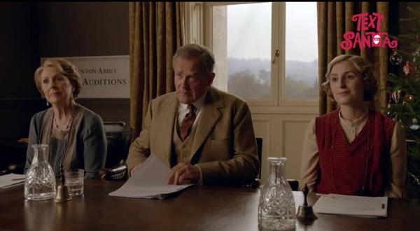 Downton Abbey Text Santa 2015