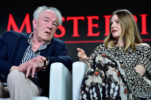 Churchill's Secret Michael Gambon Romola Garai at Winter 2016 TCA