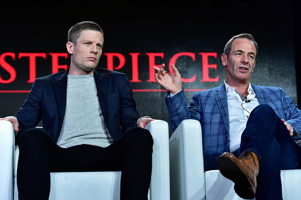 Grantchester S2 James Norton Robson Green at Winter 2016 TCA