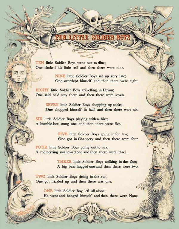Ten Little Soldier Boys poem