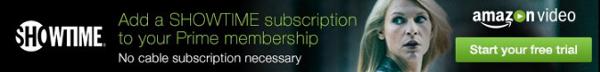 Showtime subscription for Amazon Prime