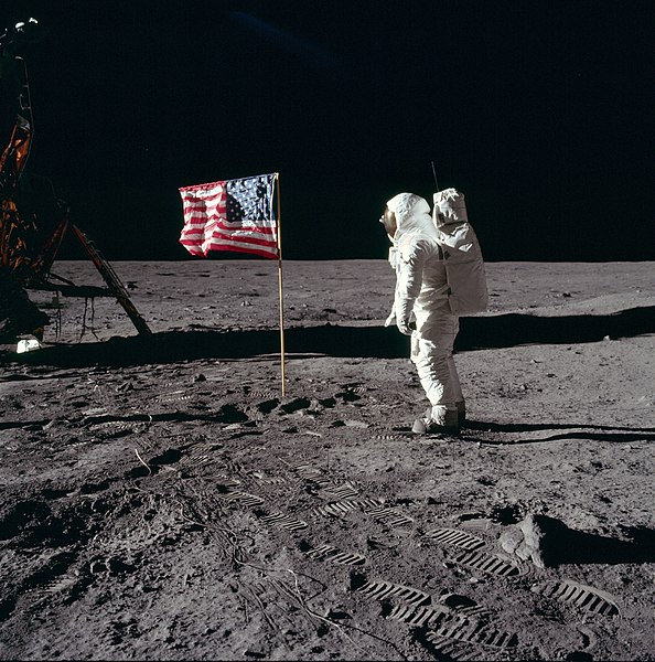 Buzz Aldrin on the Moon 1969